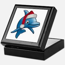 Christmas Dolphin Keepsake Box