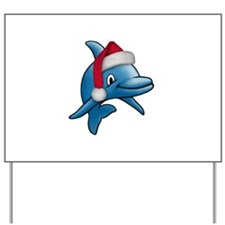 Christmas Dolphin Yard Sign
