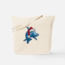 Christmas Dolphin Tote Bag