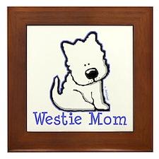 Westie Mom Framed Tile