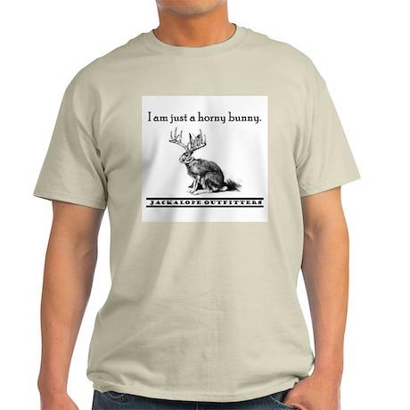 Horny Bunny - Jackalope Ash Grey T-Shirt