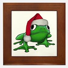 Christmas Frog Framed Tile