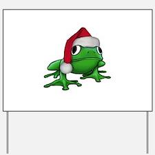 Christmas Frog Yard Sign
