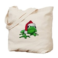 Christmas Frog Tote Bag