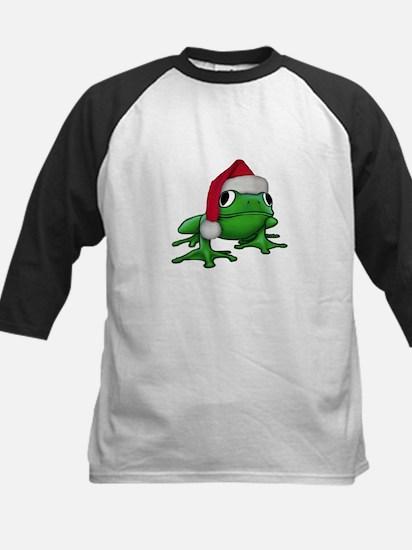 Christmas Frog Kids Baseball Jersey