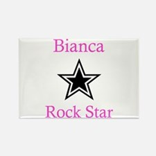 Bianca - Rock Star Rectangle Magnet