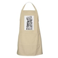 drinking calavera BBQ Apron- Yellow, White, or Tan