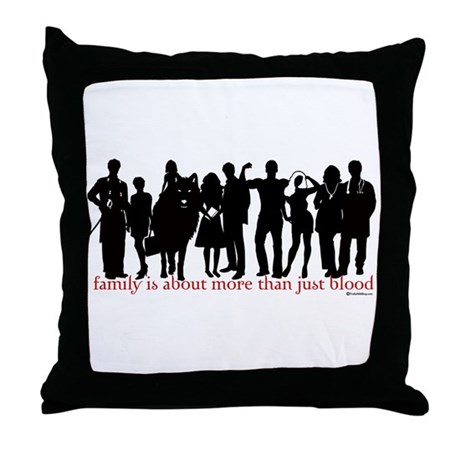 Cullen Family Silhouette Throw Pillow