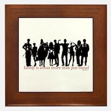 Cullen Family Silhouette Framed Tile