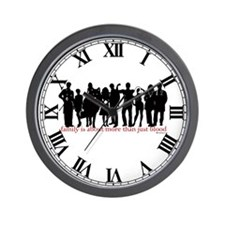 Cullen Family Silhouette Wall Clock