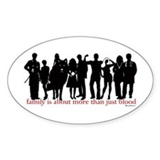 Cullen Family Silhouette Oval Decal