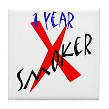 1 Year X Smoker Tile Coaster