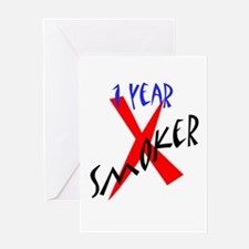 1 Year X Smoker Greeting Card