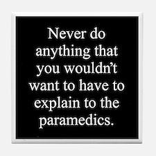 Paramedics Tile Coaster