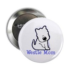 "Westie Mom 2.25"" Button"