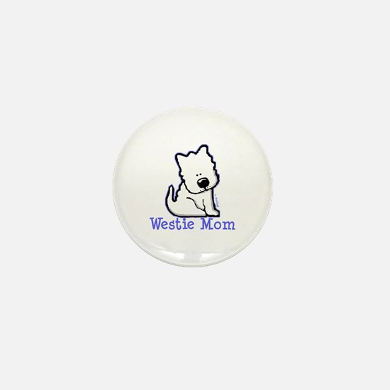 Westie Mom Mini Button