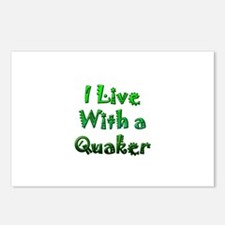 I Live With A Quaker Postcards (Package of 8)