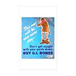 Comic Pants Down Humor Rectangle Sticker 10 pk)