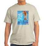 Comic Pants Down Humor (Front) Light T-Shirt