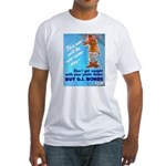 Comic Pants Down Humor (Front) Fitted T-Shirt