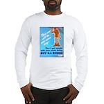 Comic Pants Down Humor (Front) Long Sleeve T-Shirt