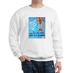 Comic Pants Down Humor (Front) Sweatshirt