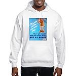 Comic Pants Down Humor (Front) Hooded Sweatshirt