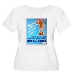 Comic Pants Down Humor (Front) T-Shirt