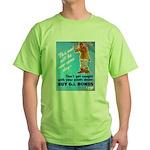 Comic Pants Down Humor (Front) Green T-Shirt
