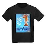 Comic Pants Down Humor (Front) Kids Dark T-Shirt