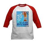 Comic Pants Down Humor (Front) Kids Baseball Jerse