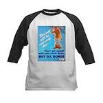Comic Pants Down Humor Kids Baseball Jersey