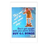Comic Pants Down Humor Postcards (Package of 8)