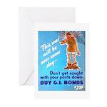 Comic Pants Down Humor Greeting Cards (Pk of 20)