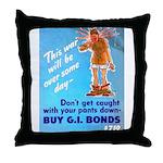Comic Pants Down Humor Throw Pillow