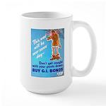 Comic Pants Down Humor Large Mug