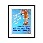 Comic Pants Down Humor Framed Panel Print