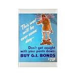 Comic Pants Down Humor Rectangle Magnet (10 pack)