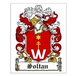 Soltan Family Crest Small Poster
