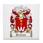 Soltan Family Crest Tile Coaster