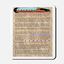 Commandments of Coyote Mousepad