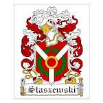 Staszewski Family Crest Small Poster