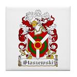 Staszewski Family Crest Tile Coaster