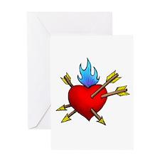 St. Sebastian's Heart Greeting Card