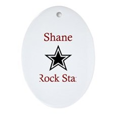 Shane - Rock Star Oval Ornament