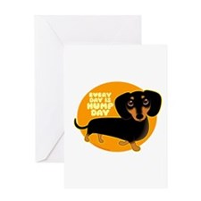 HUMP DAY Doxie Greeting Card