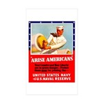 Navy Arise Americans Rectangle Sticker 10 pk)