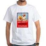 Navy Arise Americans White T-Shirt