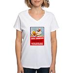 Navy Arise Americans (Front) Women's V-Neck T-Shir