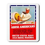 Navy Arise Americans Mousepad